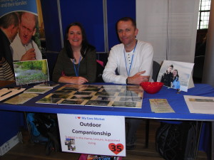 Alison and Peter at the I Love My Care Market event at Stockport Town Hall, February 14th, 2013