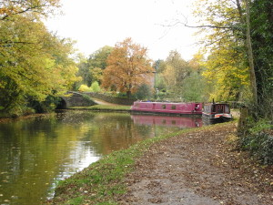 Peak Forest Canal at Romiley in autumn